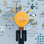 MOOC Summaries - Big Data and Social Physics - Organizations - Business strategy plan concept idea,Light bulb with icons modern business and pencil. Vector illustration layout template design