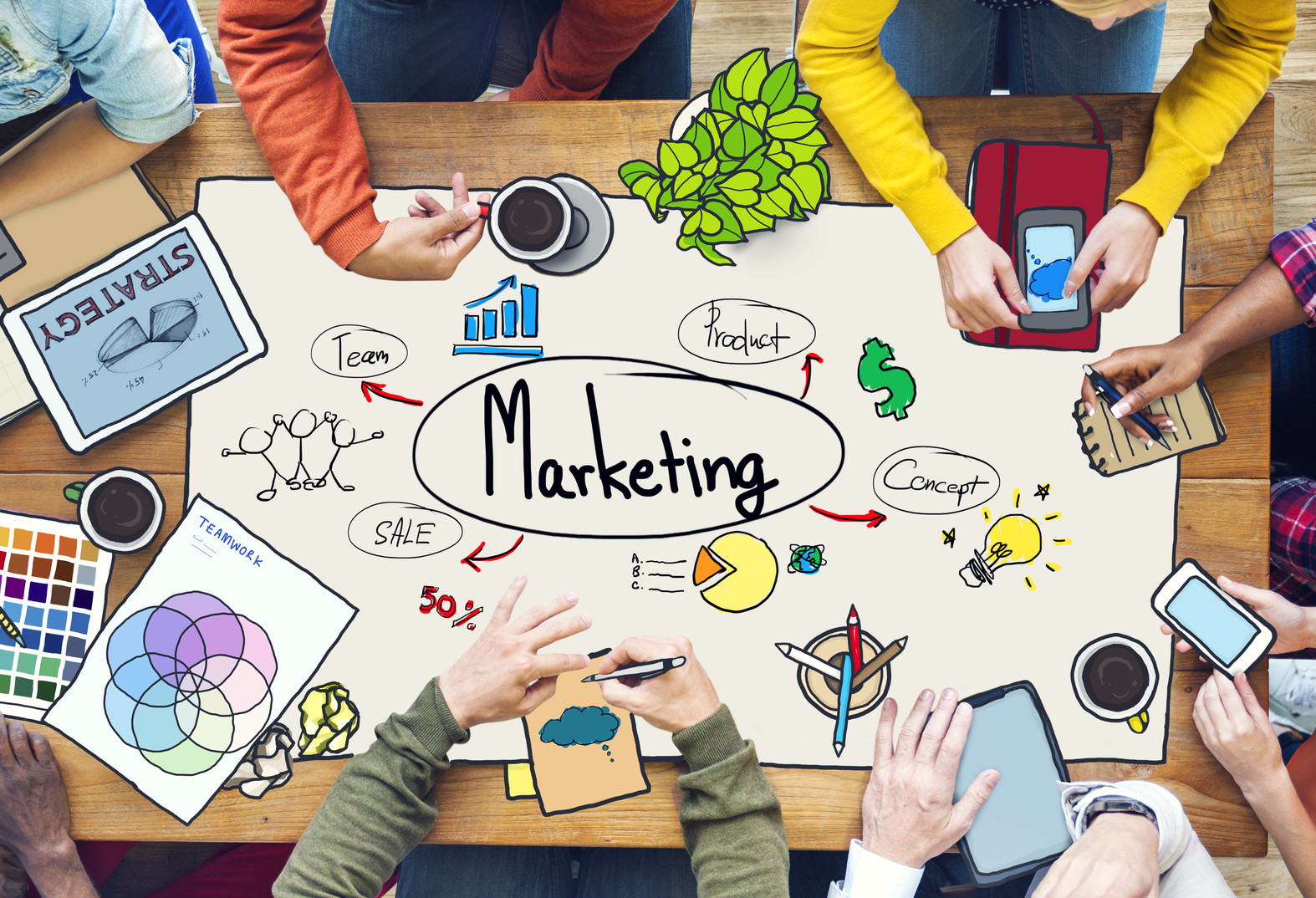 MOOC Summaries - UBC Introduction to Marketing - Diverse People Working and Marketing Concept